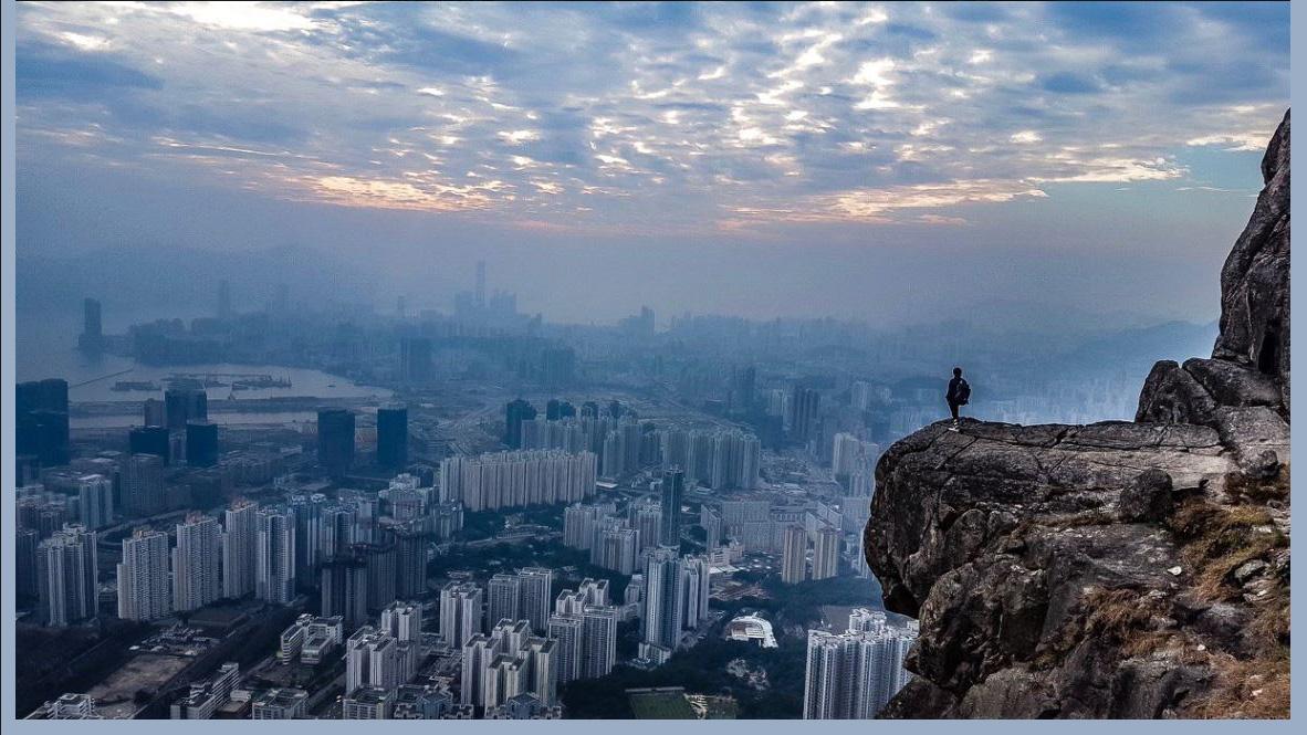 aerial view of Hong Kong by Teresa N.
