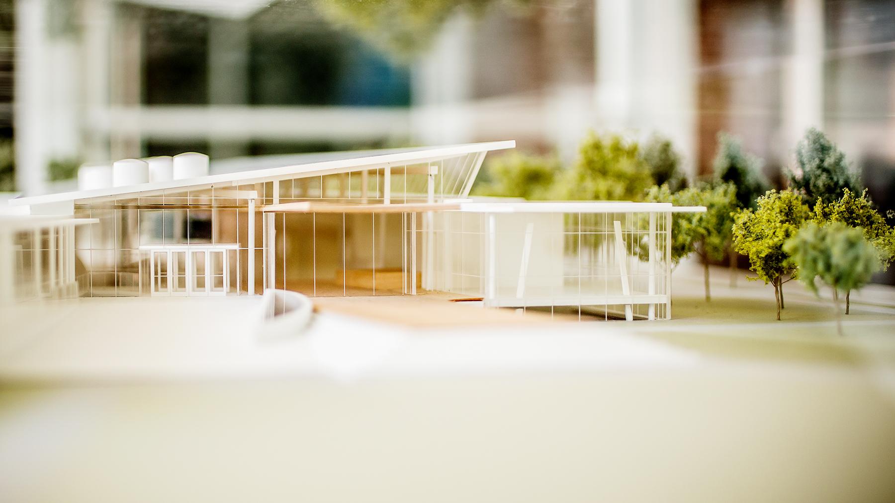 architect's model of the Siebel Center for Design