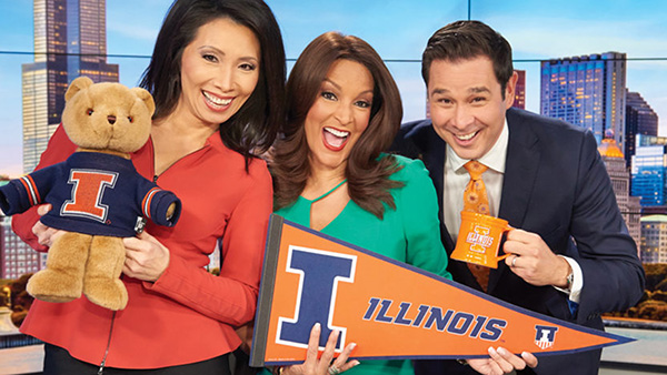 Chicago's ABC7 News anchors Judy Hsu, Cheryl Burton and Rob Elgas. (Image by Jeff Dahlgren)