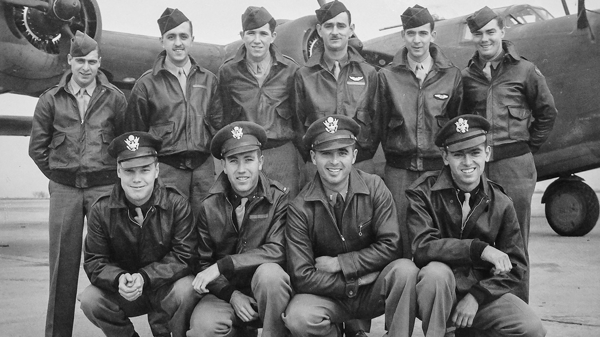 This B-24 crew, plus an additional crewman, was lost on a bombing mission over Papua New Guinea in 1944 during World War II.