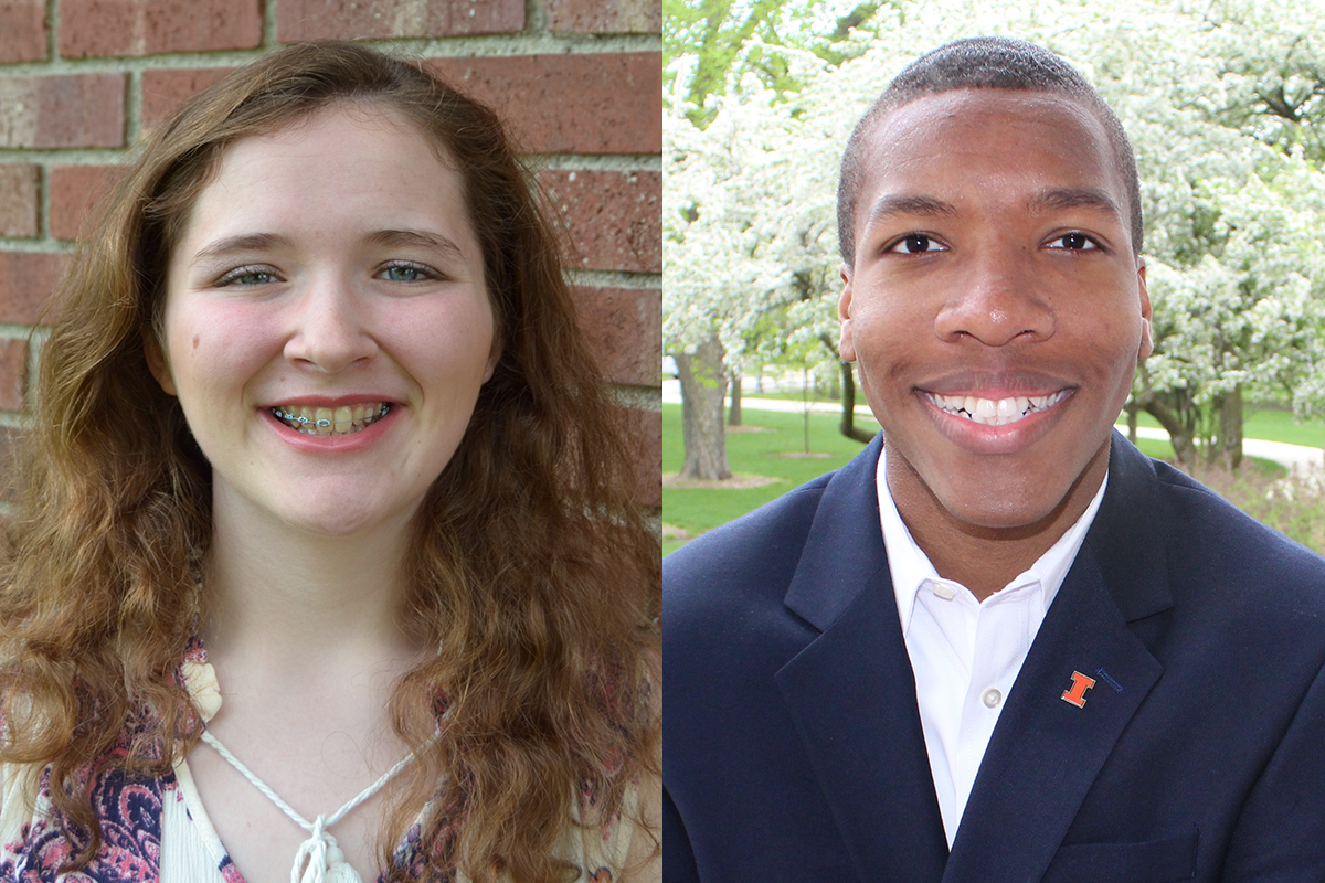 University of Illinois students Madeline Ford and Michael Mitchell. Photos provided
