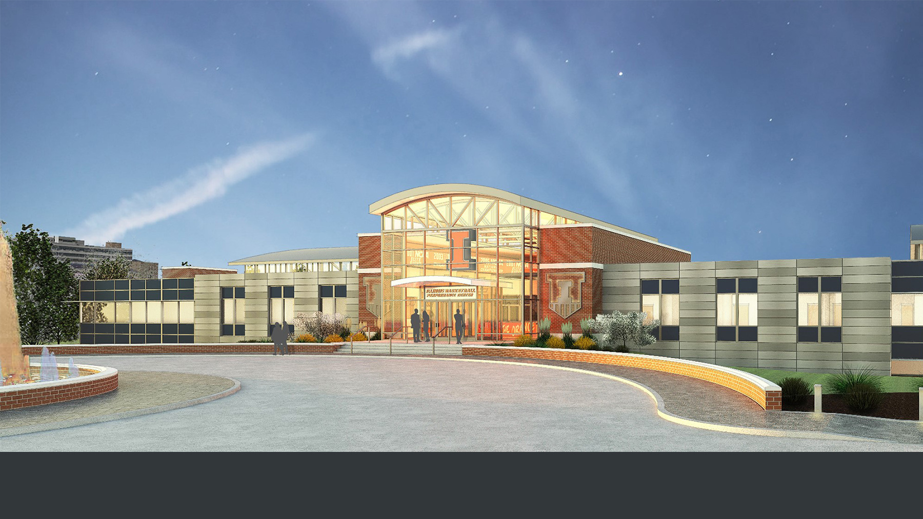 artist's rendition of a renovated Ubben Center