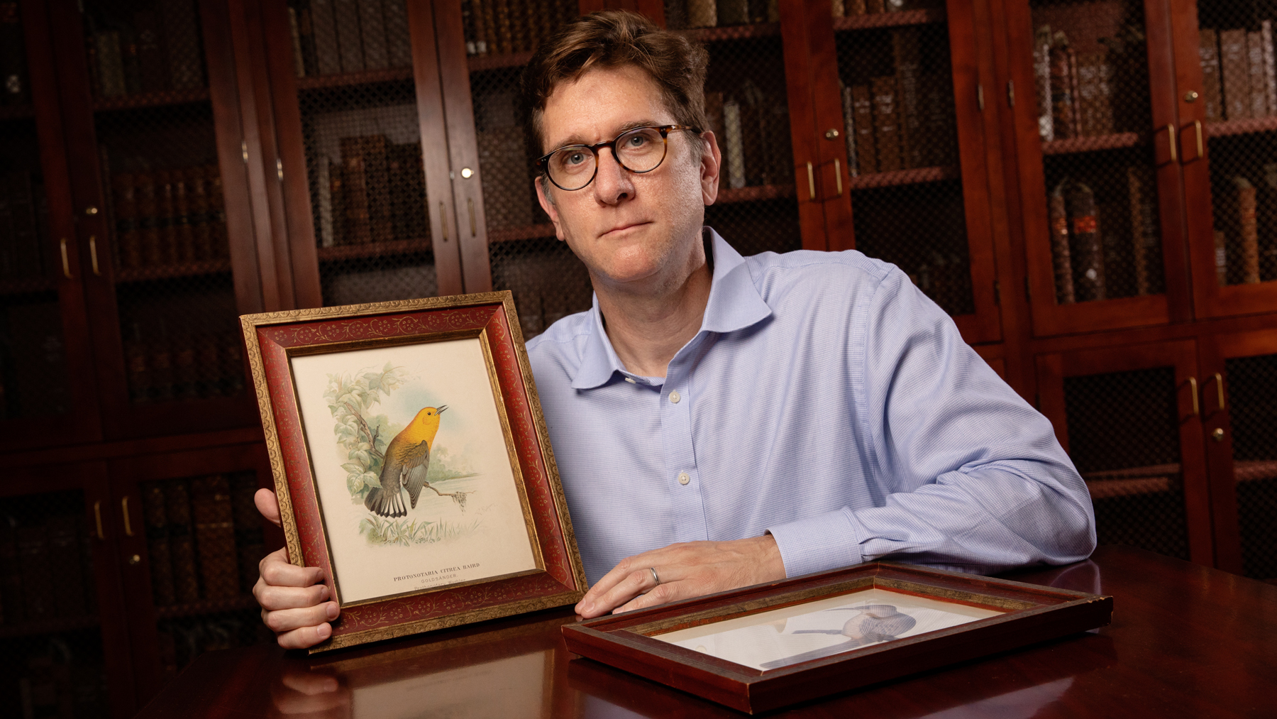 Travis McDade, the curator of law rare books at the University of Illinois College of Law and an expert on rare-book crimes