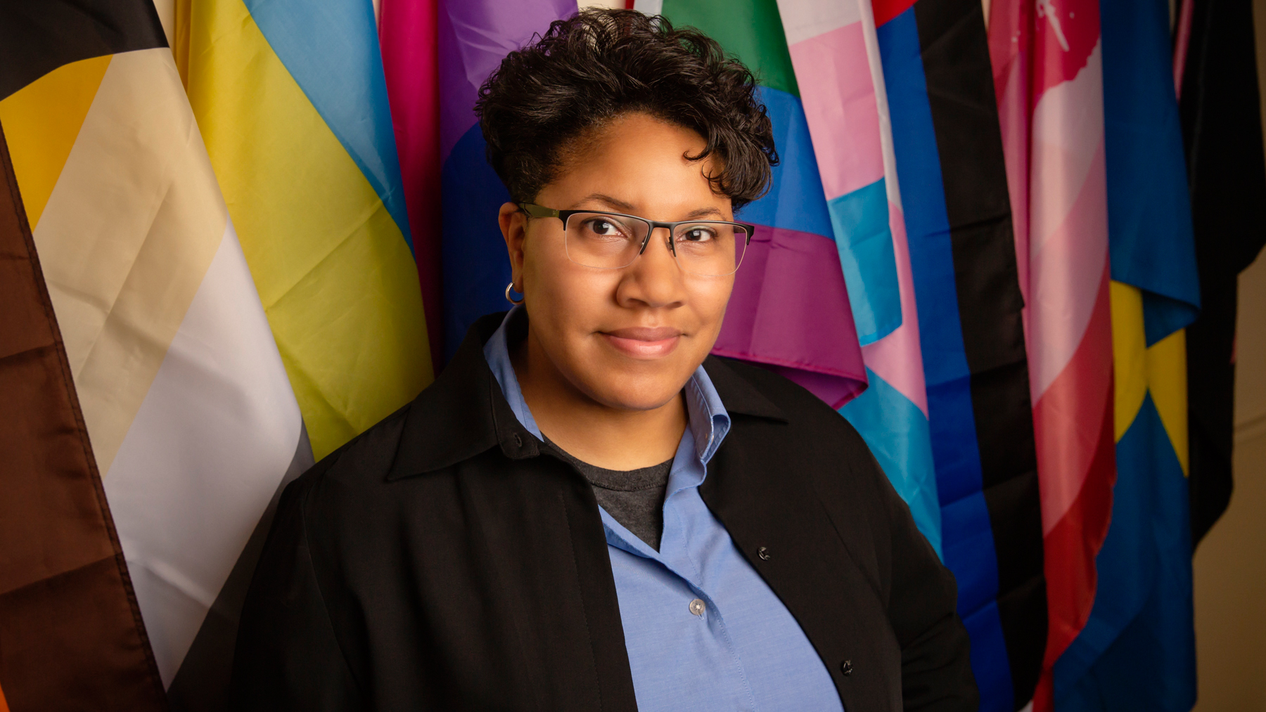 Leslie K. Morrow, the director of the Lesbian, Gay, Bisexual and Transgender Resource Center at the University of Illinois.  Photo by L. Brian Stauffer