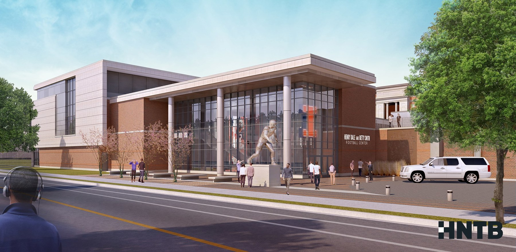 artists rendition of the Henry Dale and Betty Smith Football Center.