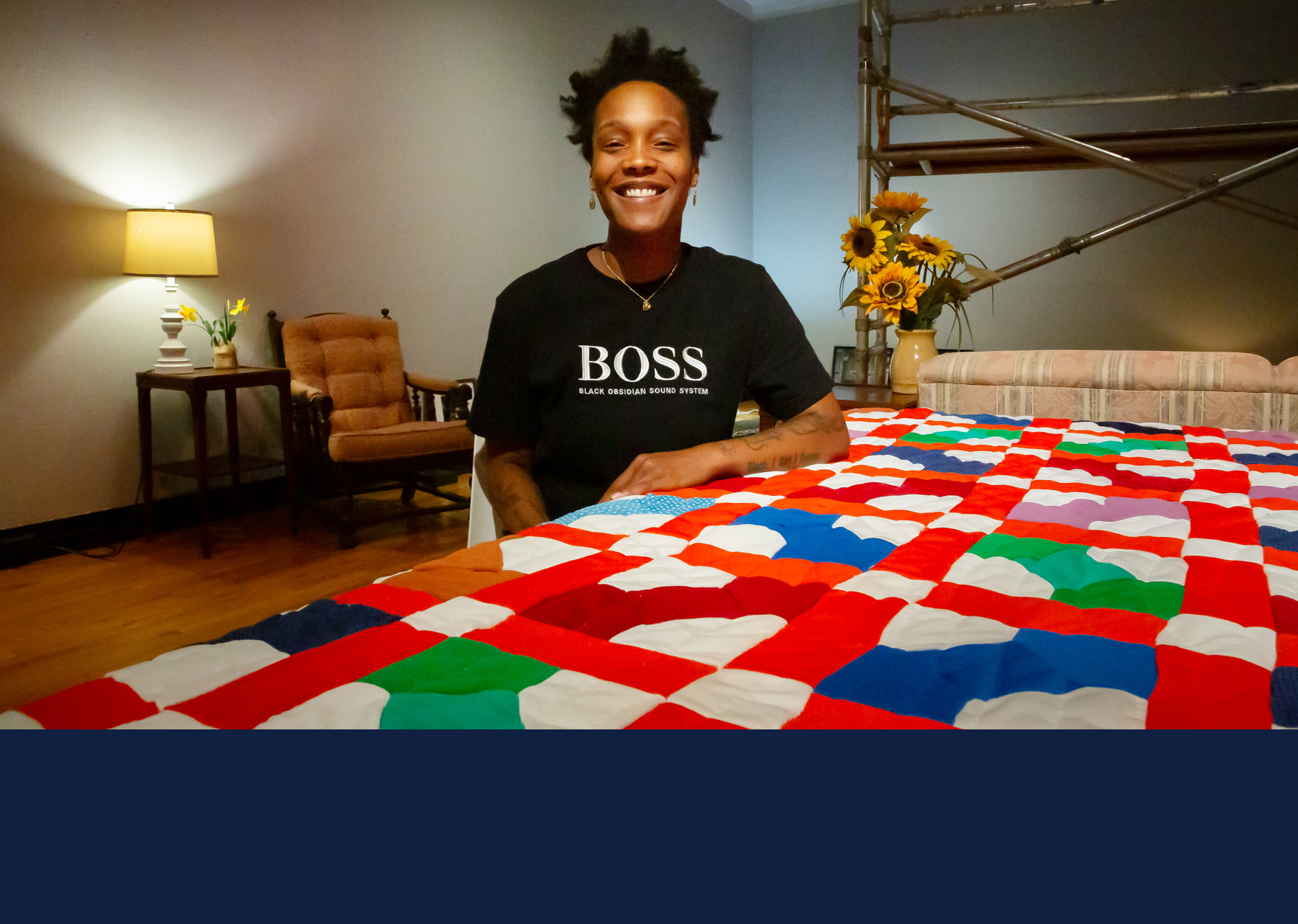 """Blair Ebony Smith, the curator of """"Homemade, With Love"""" and a postdoctoral fellow in art education at the University of Illinois, Urbana-Champaign."""