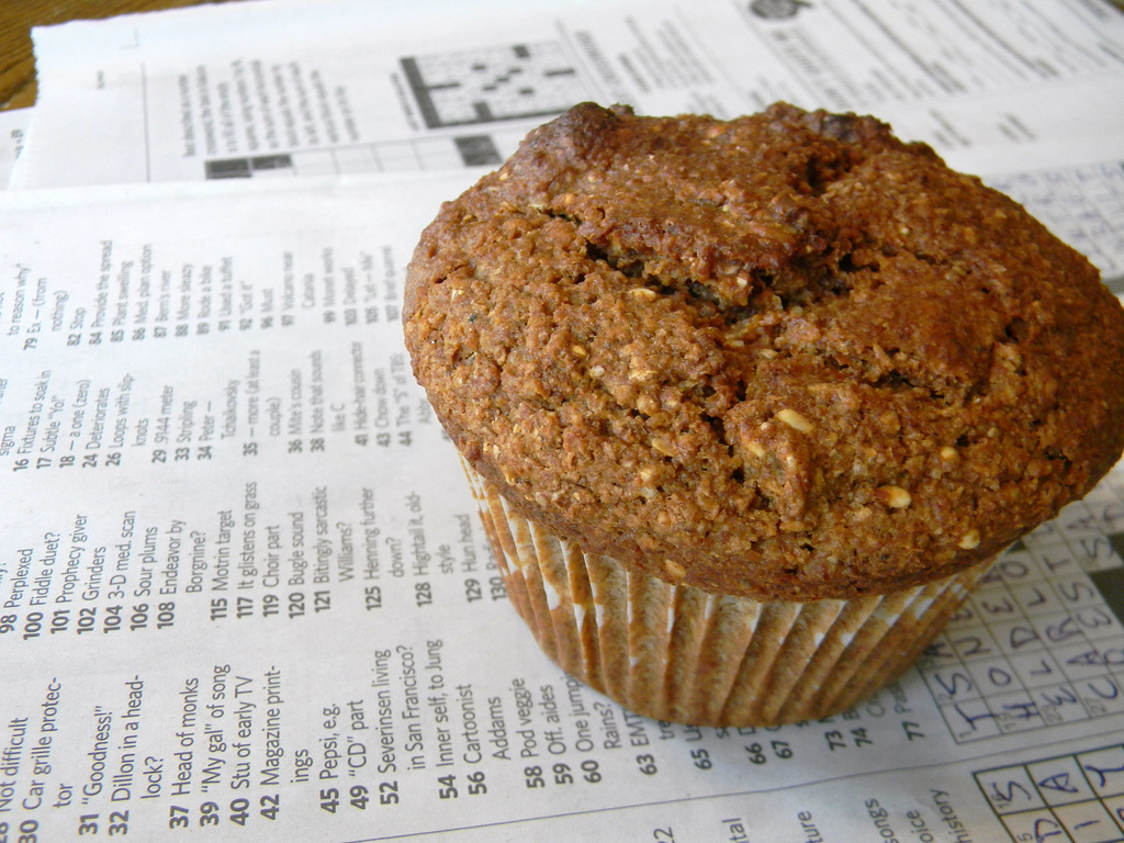 fancy fibrous bran muffin
