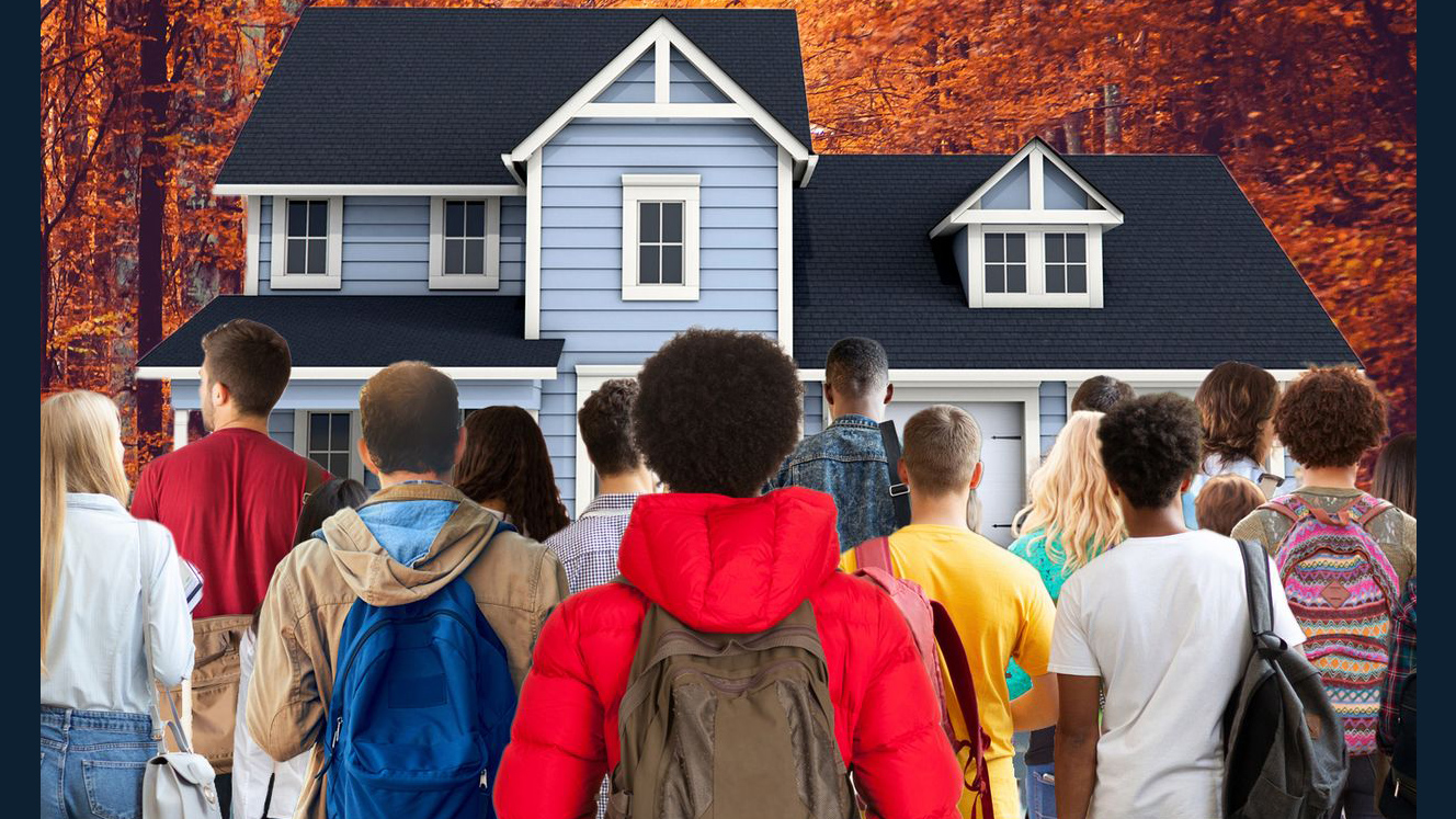 MARKETWATCH PHOTO ILLUSTRATION/ISTOCKPHOTO - students face a family home