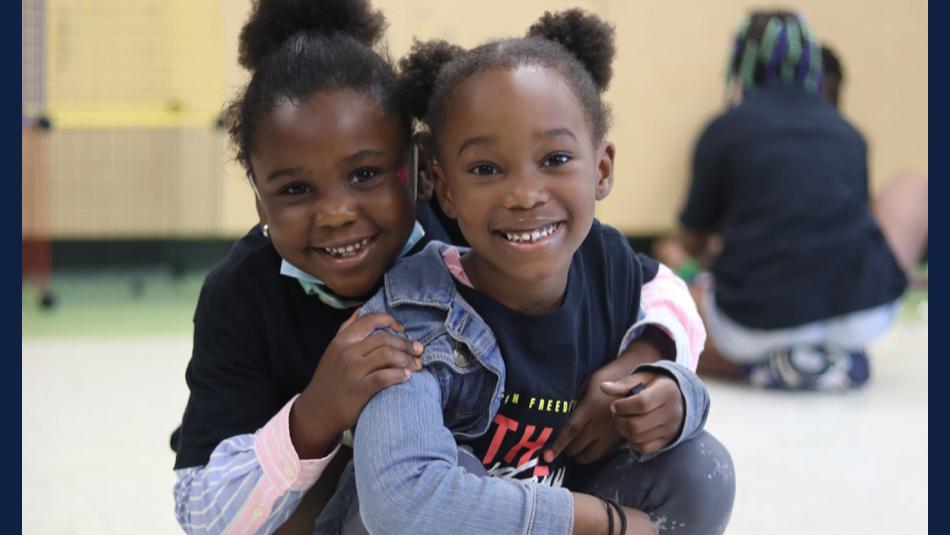 happy children at Freedom School  in Garden Hills Academy in north Champaign
