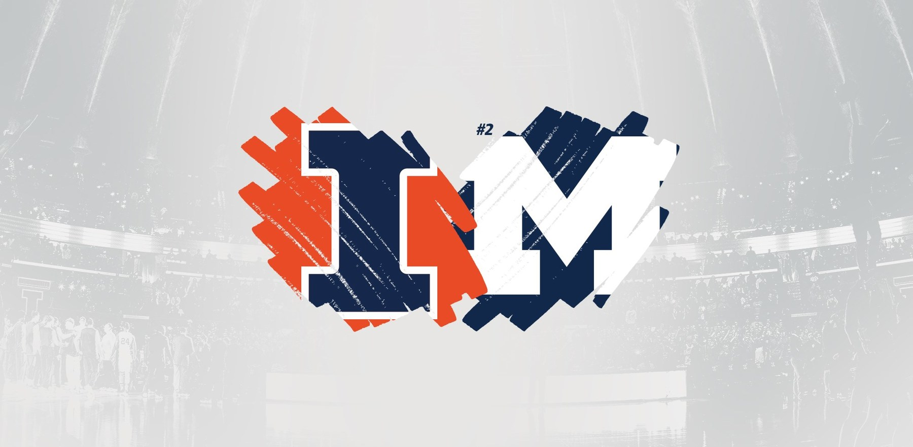 graphic showing Illinois and Michigan sports logos