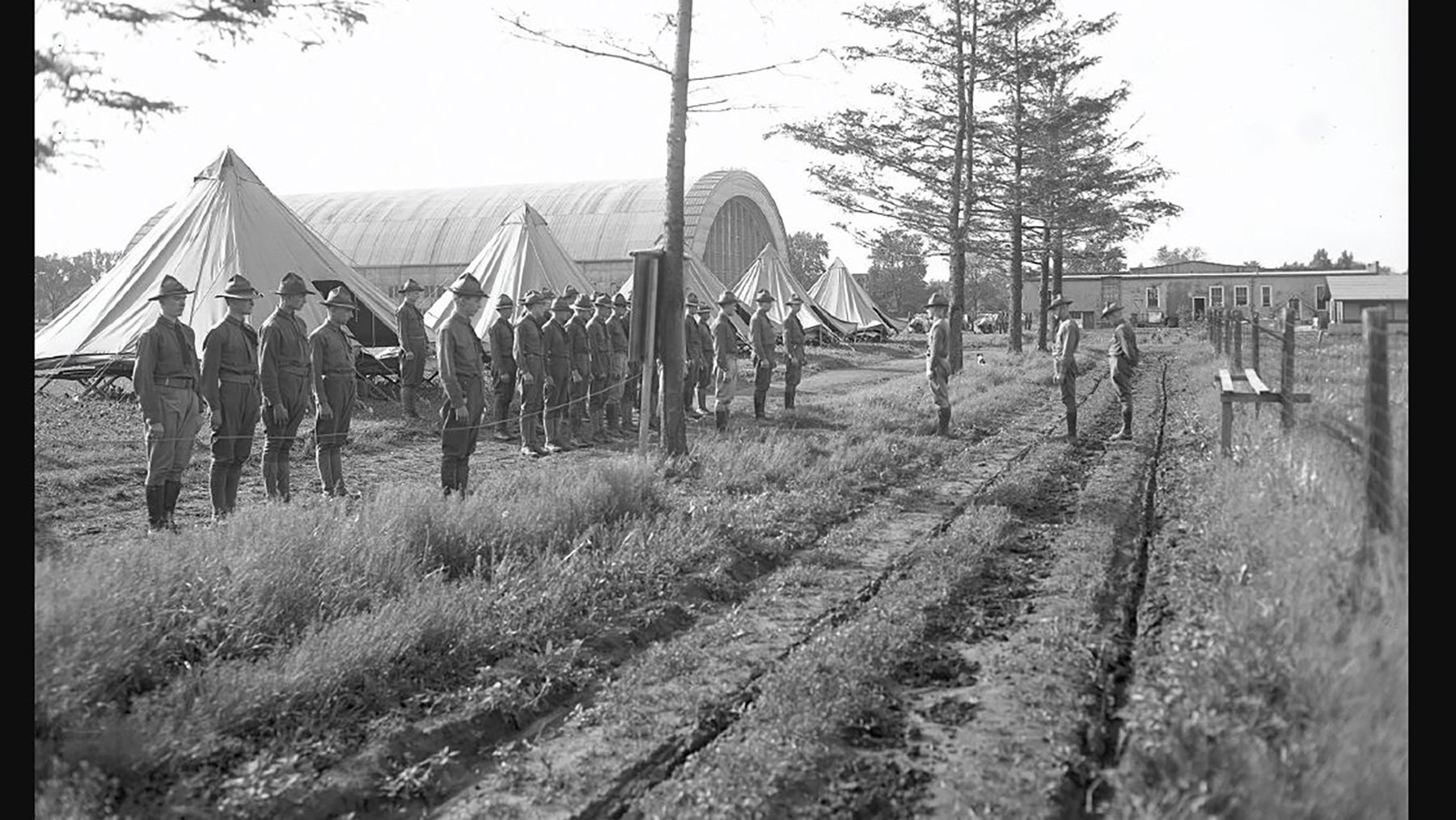 1917 Battery F training camp. (Image Courtesy of UI Archives)