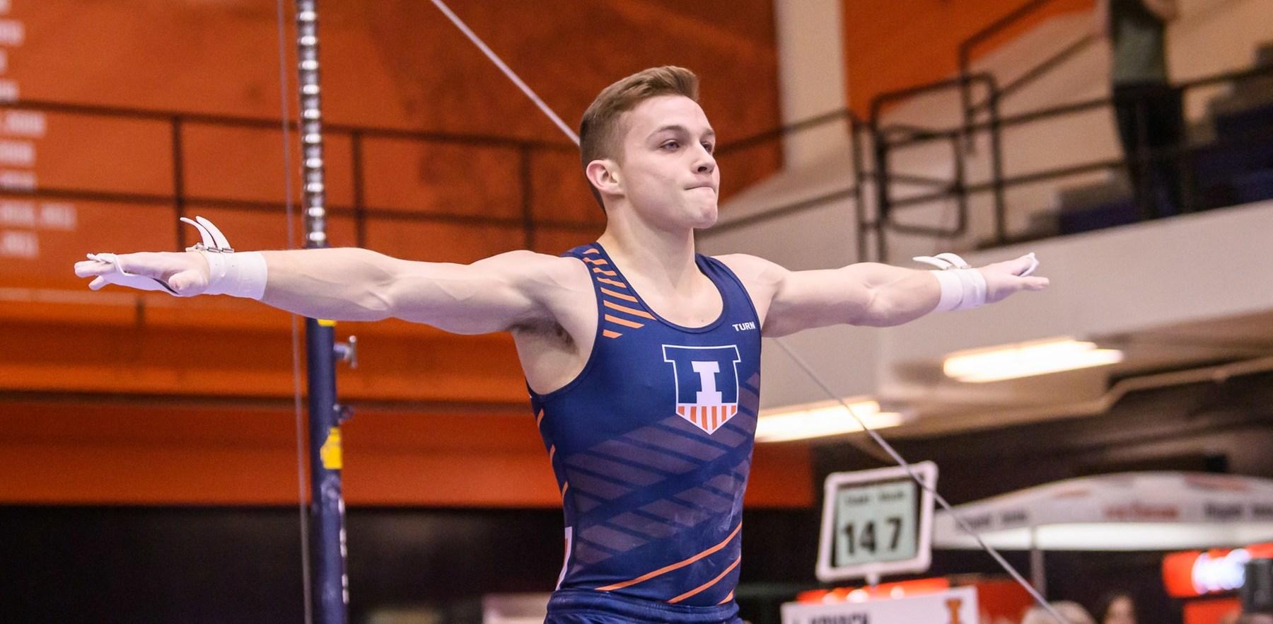 freshman gymnast Michael Fletcher