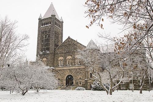 altgeld hall under snow cover