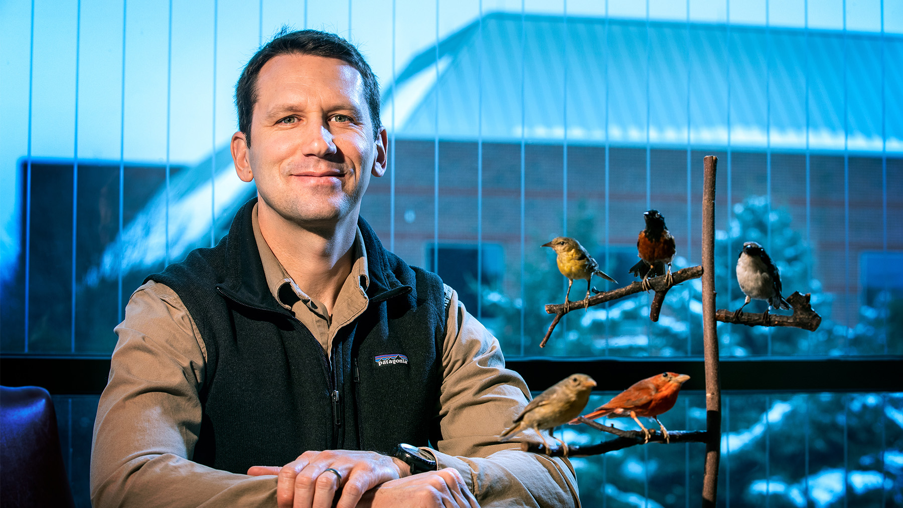 Illinois Natural History Survey avian ecologist Bryan Reiley. Photo by Fred Zwicky