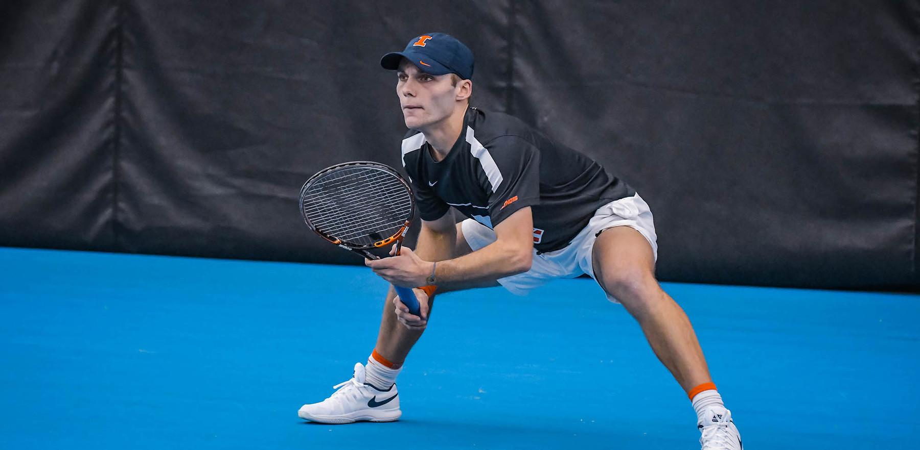 Illini tennis player Zeke Clark