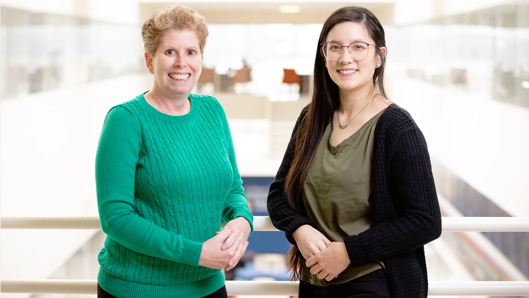 Comparative biosciences professor Jodi A. Flaws, left, and graduate student Katie (Catheryne) Chiang co-wrote the study. photo by L.B. Stauffer