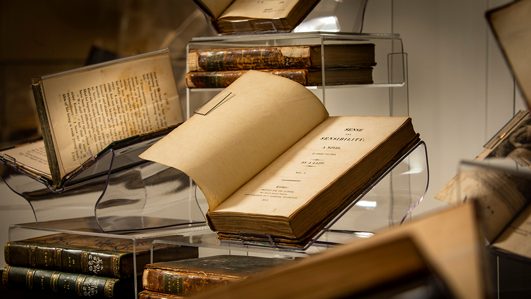 """The Rare Book and Manuscript Library owns first editions of all Jane Austen's novels, including this edition of """"Sense and Sensibility."""""""