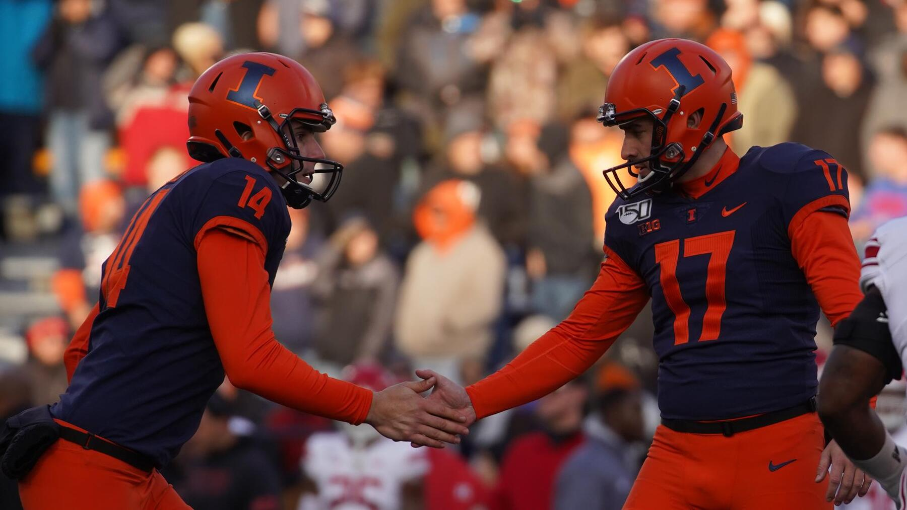 Illinois football's punter and kicker duo — Blake Hayes and James McCourt