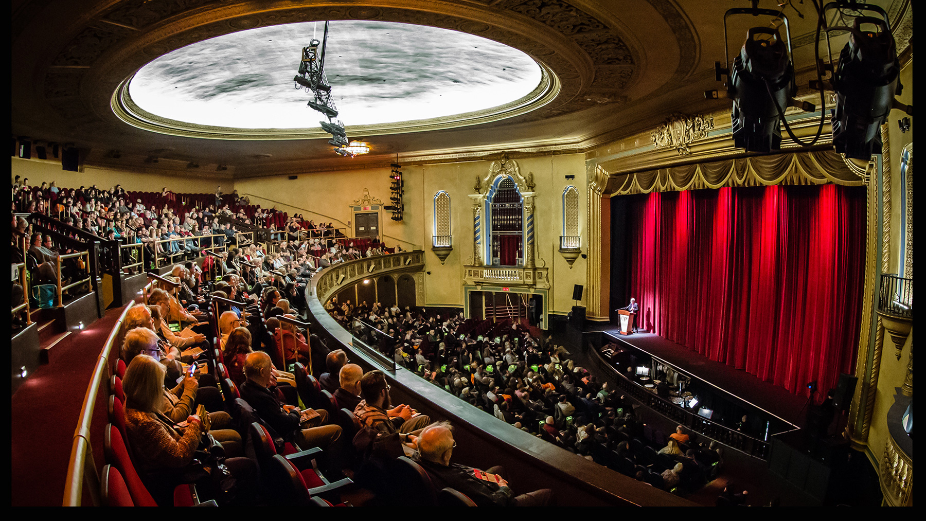 A crowd attends Roger Ebert's Film Festival in 2018 at  the Virginia Theatre in downtown Champaign.  Photo by L. Brian Stauffer