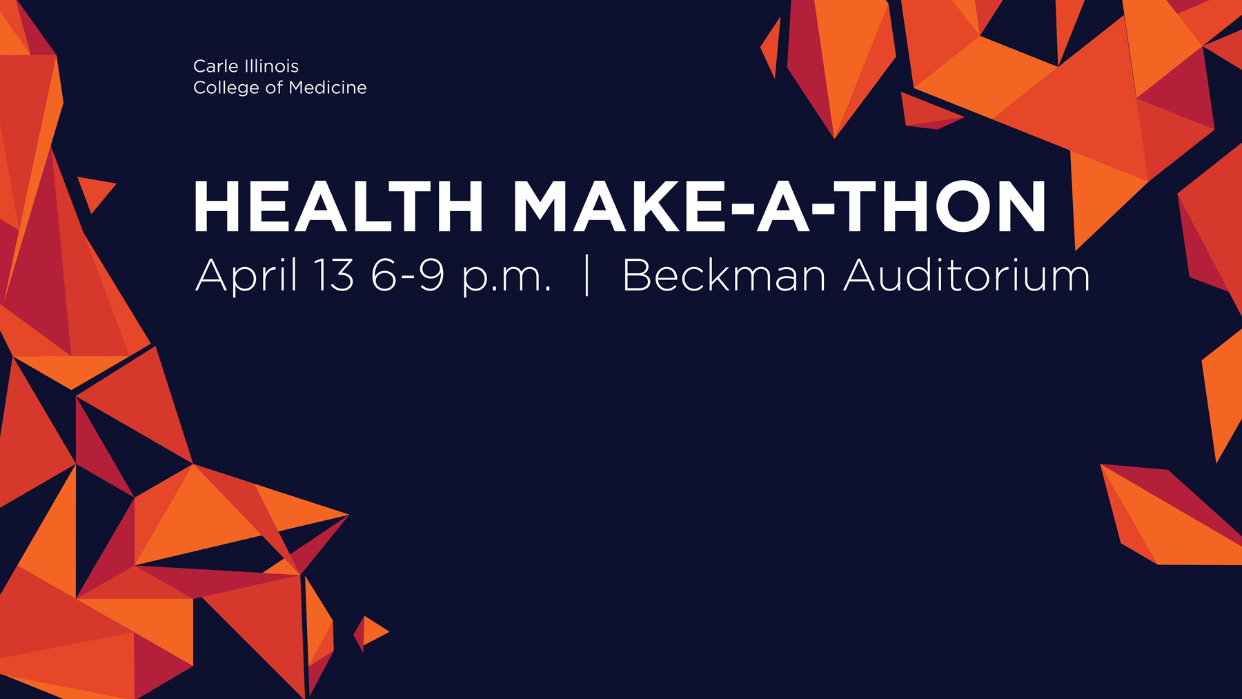 Health make-a-thon title graphic by Kara Sauder