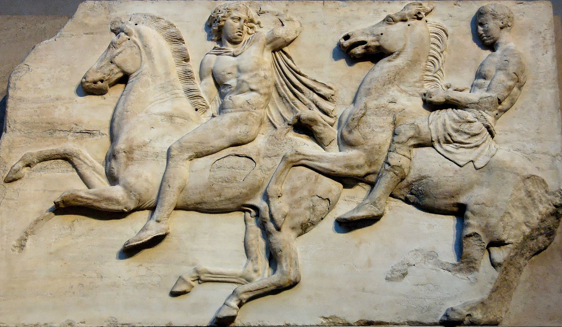 Calvalcade frieze on the Parthenon. Photo by Jastrow