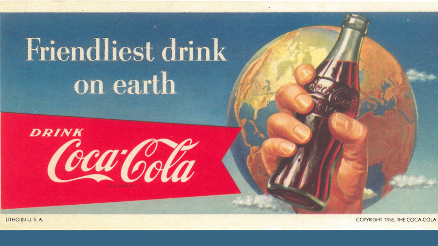"Billboard: ""Friendliest Drink On Earth,"" The Coca-Cola Company (1956)"