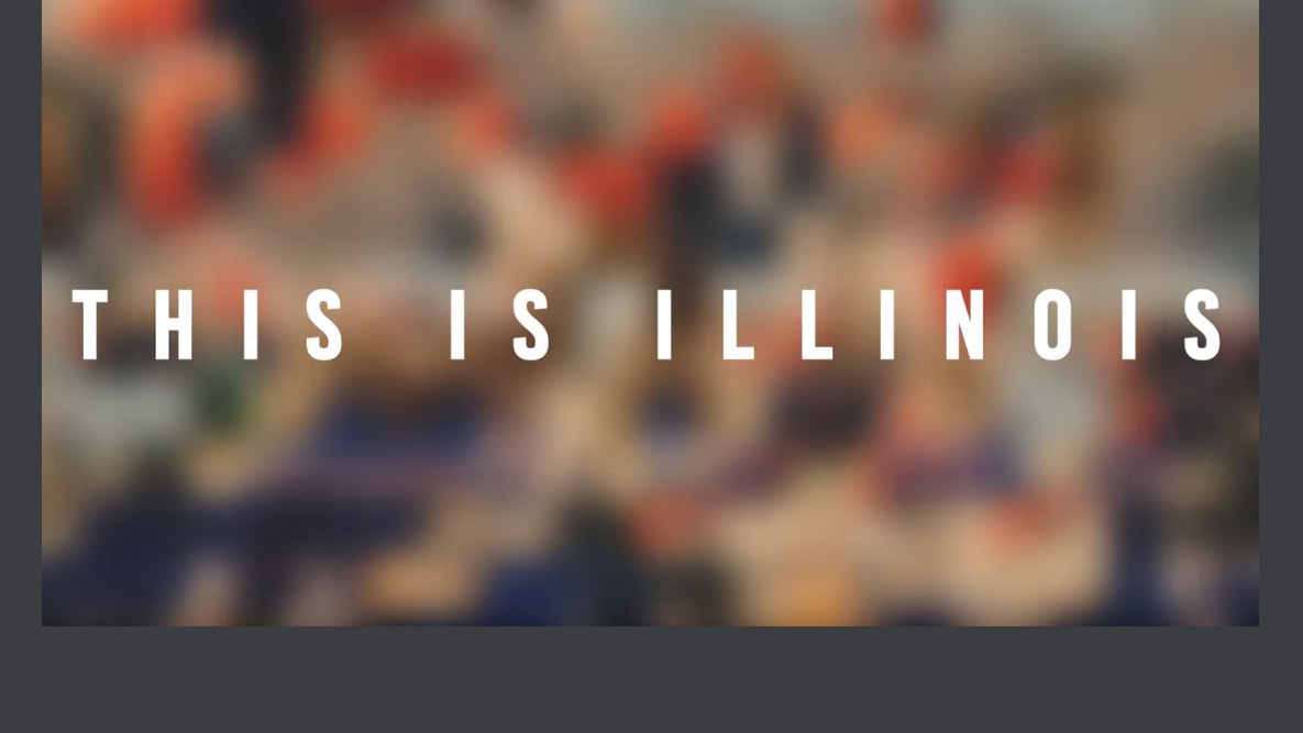 introductory graphic for the video says 'This is Illinois'
