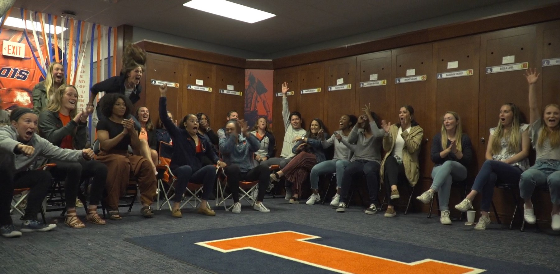 Fighting Illini softball players react to being selected for the NCAA tournament.
