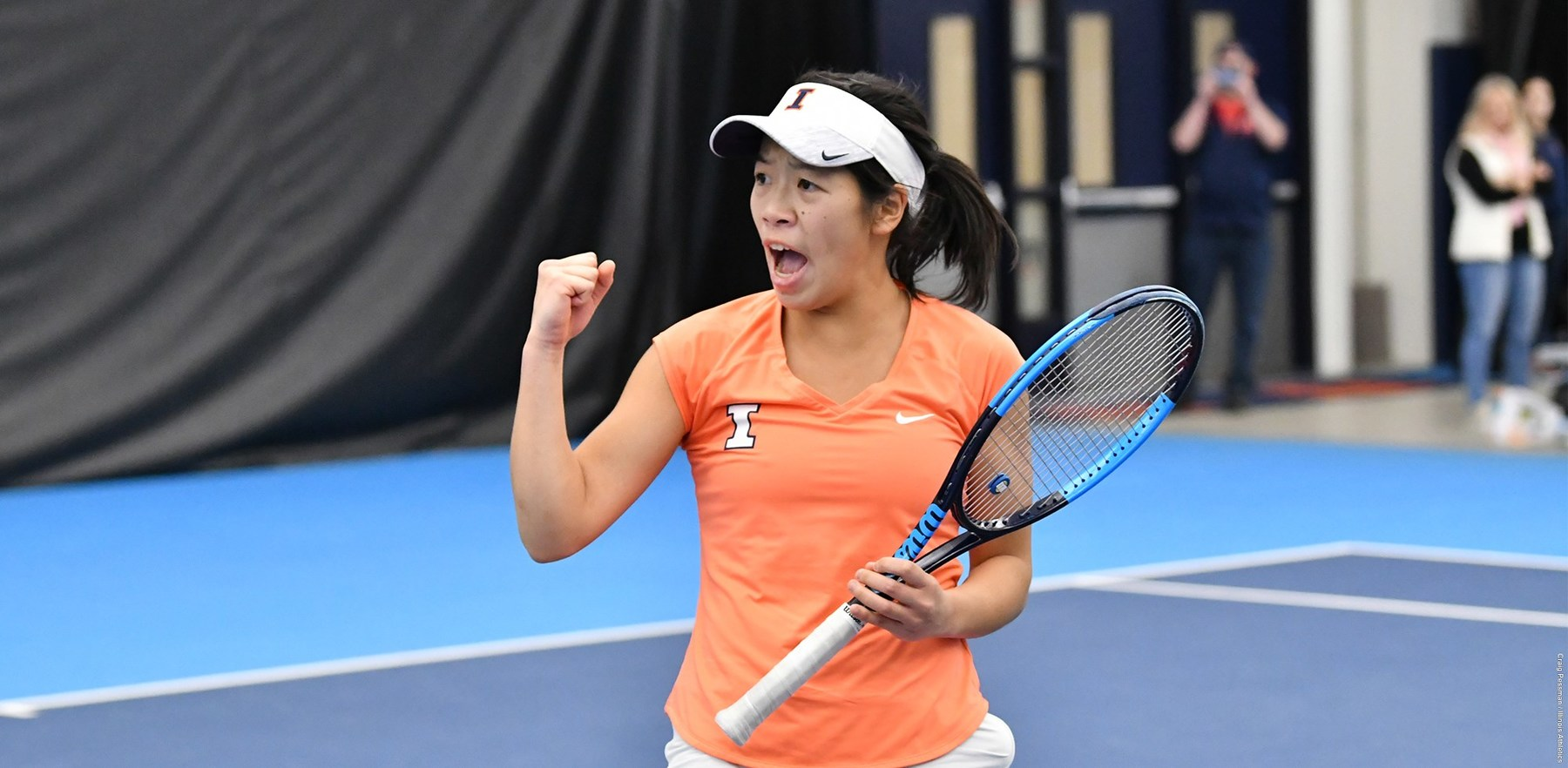 Asuka Kawai on the court at the USTA National Campus in Orlando, Fla.