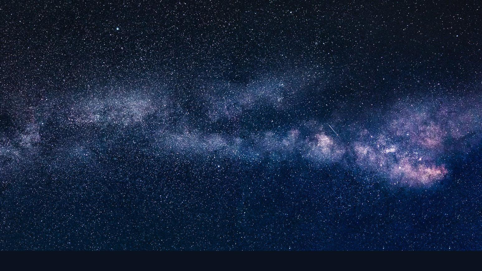 stock image of night sky via Pexels