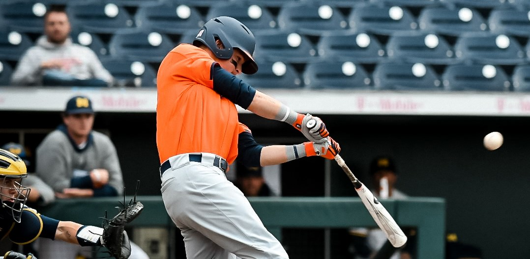 Illini batter swings at a pitch during Thursday's game against Michigan