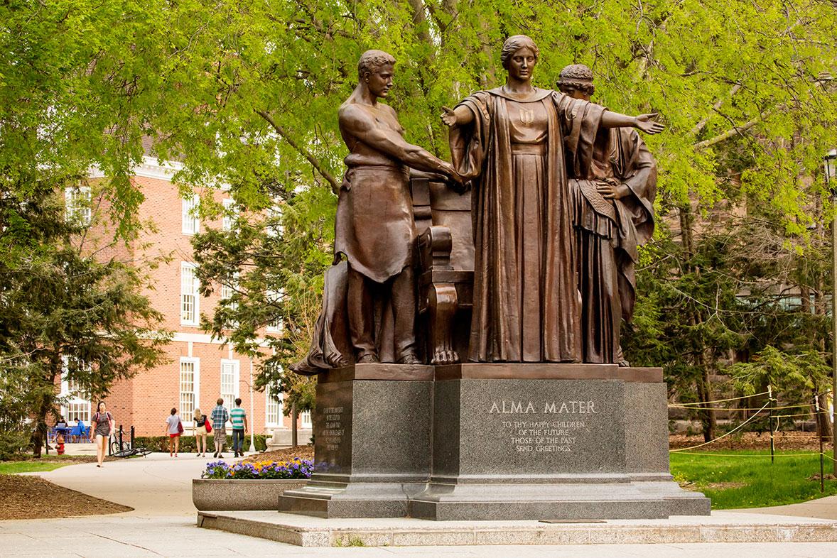 The Alma Mater statue at Illinois