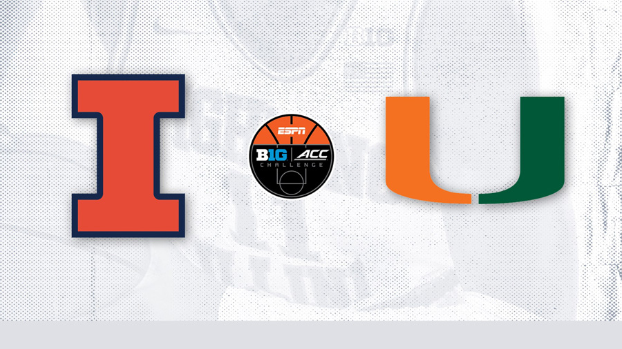 Big Ten - ACC Challenge graphic with Illinois and Miami team logos
