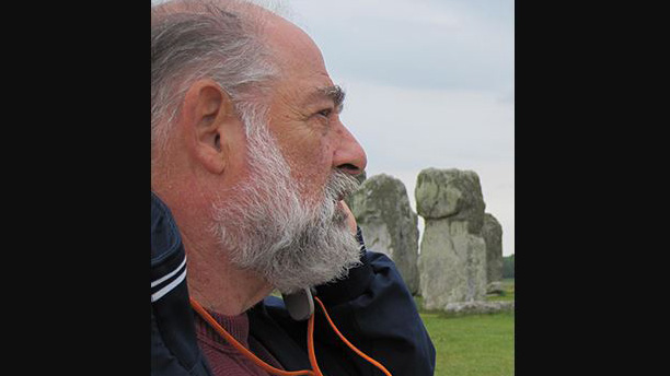 well travelled alumnus Fred Stahl at Stonehenge
