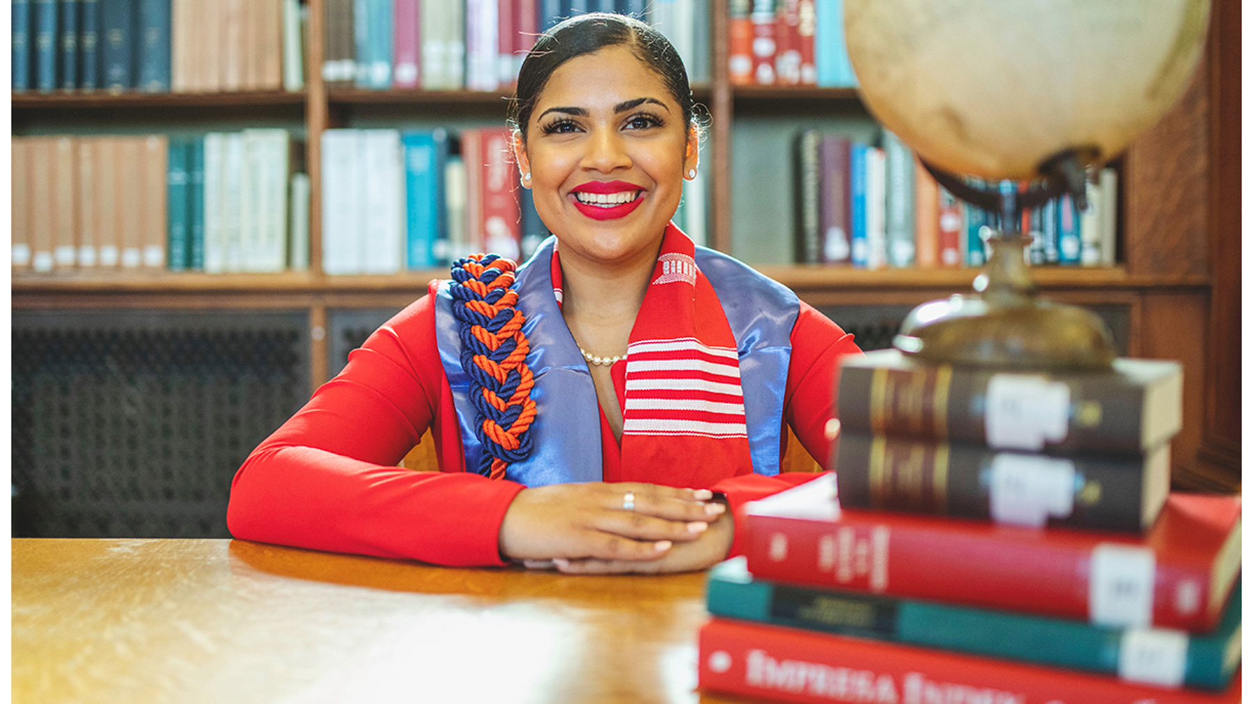 riele Tellis, one of 13 University of Illinois at Urbana-Champaign students and young alumni who have accepted Fulbright grants for the upcoming academic year.  Photo by Latosha Pointer