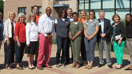 ACES and Extension staff meet with Jackie Joyner-Kersee and center staff