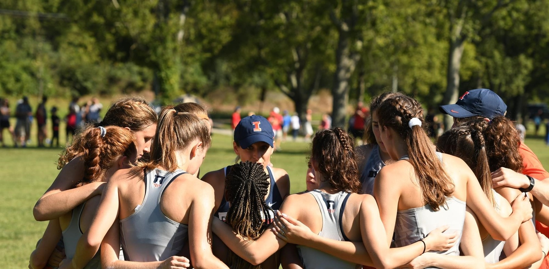 women's team members huddle