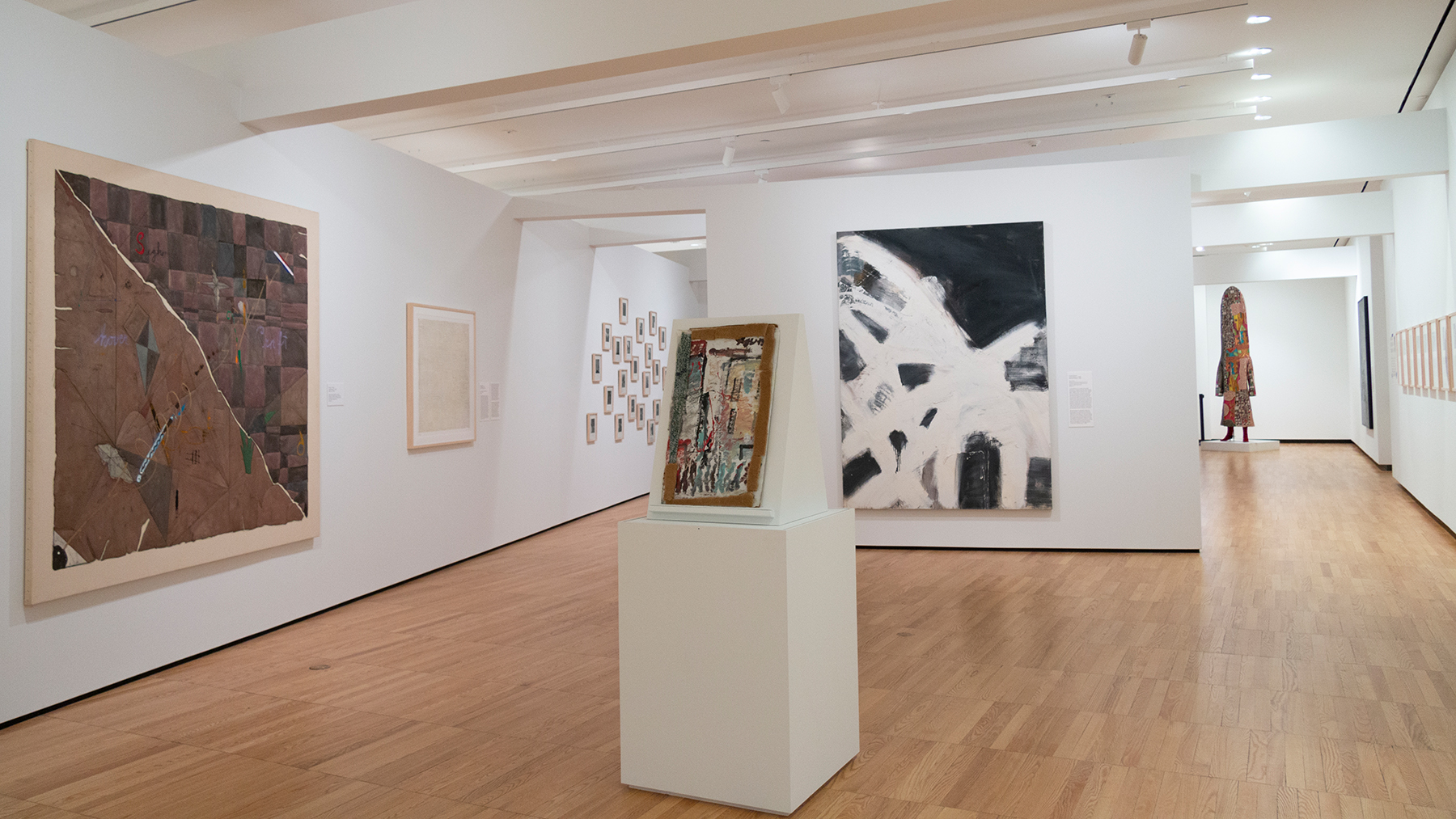 view of the gallery featuring the new installation