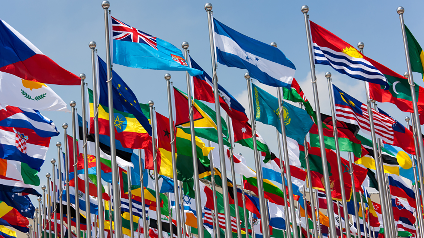 national flags from around the world. iStock photo