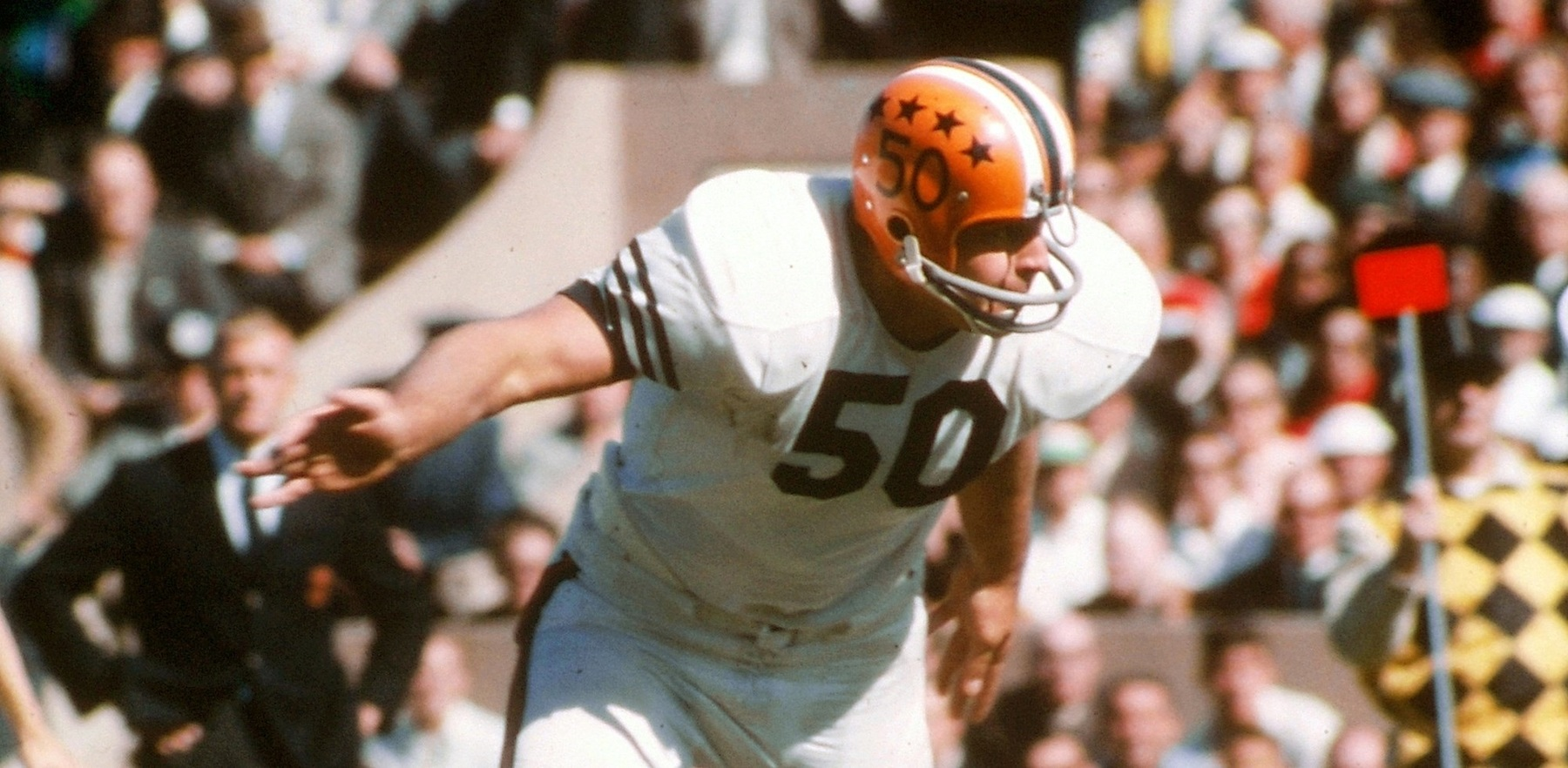 Dick Butkus playing for the Fighting Illini