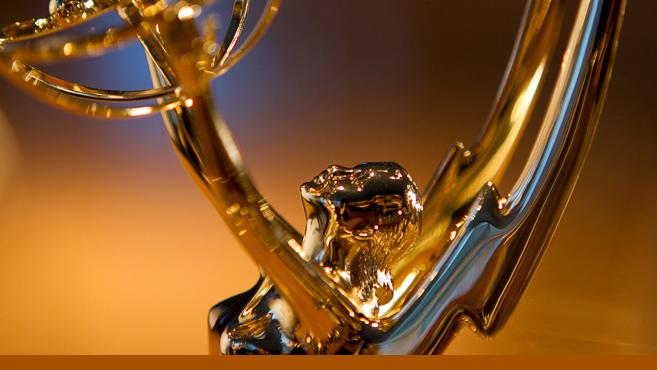 close up of an Emmy Award