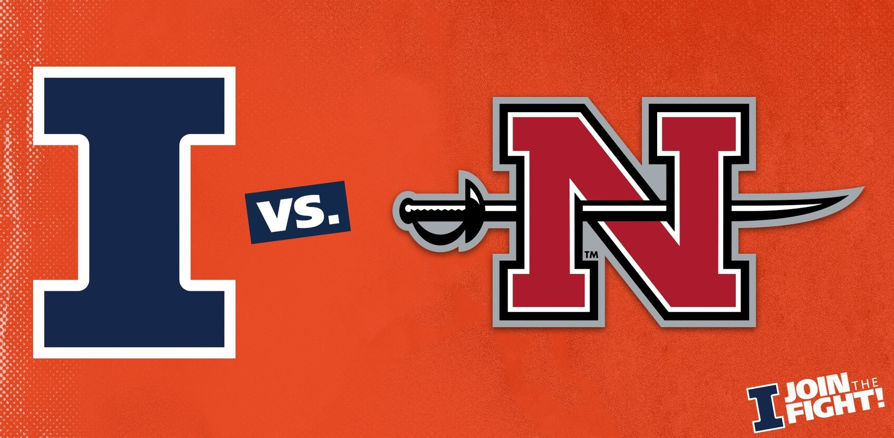 team logos for Illiinois and Nicholls State