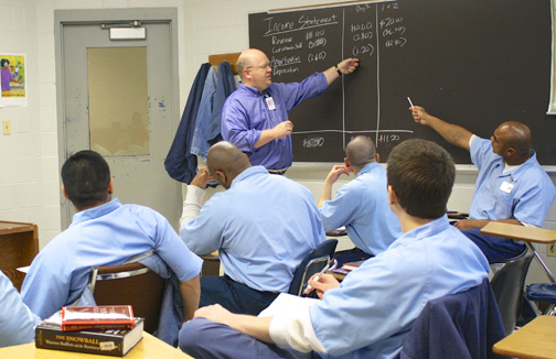 EJP classroom scene at Danville Correctional Center