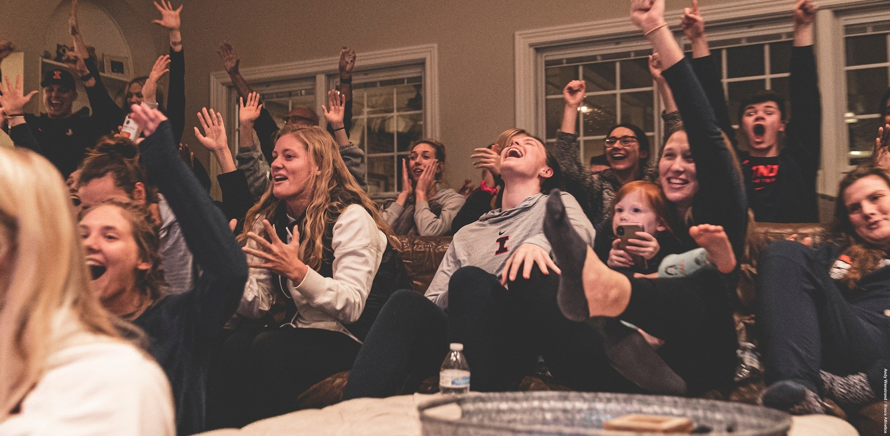 Volleyball players watch the NCAA selection show, celebrate as they are named