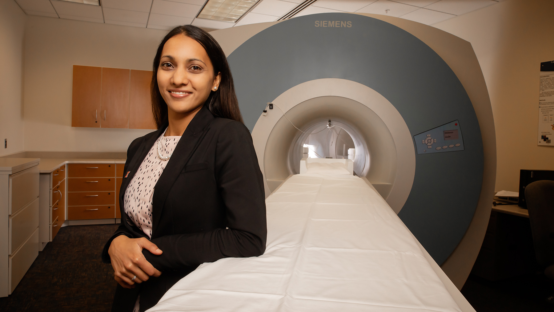 U. of I. kinesiology and community health professor Neha Gothe explores the relationship between physical activity and cognitive aging.  Photo by L. Brian Stauffer