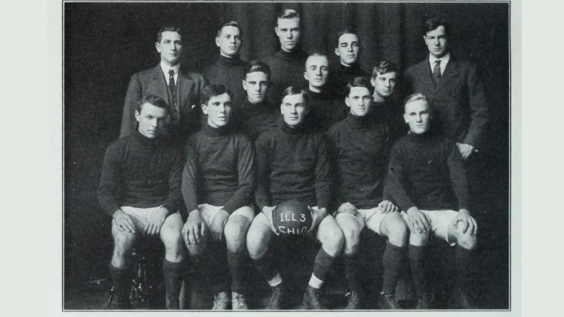 team photo of 1911 Illini soccer team from The Illio (yearbook)