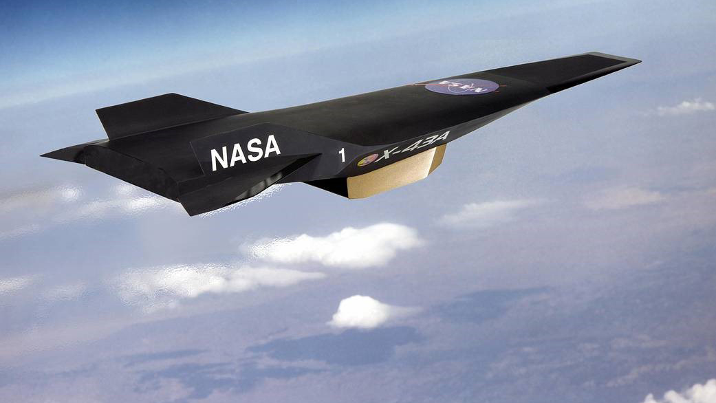 Artist's conception of the X43A Hypersonic Experimental Vehicle. Source: NASA.