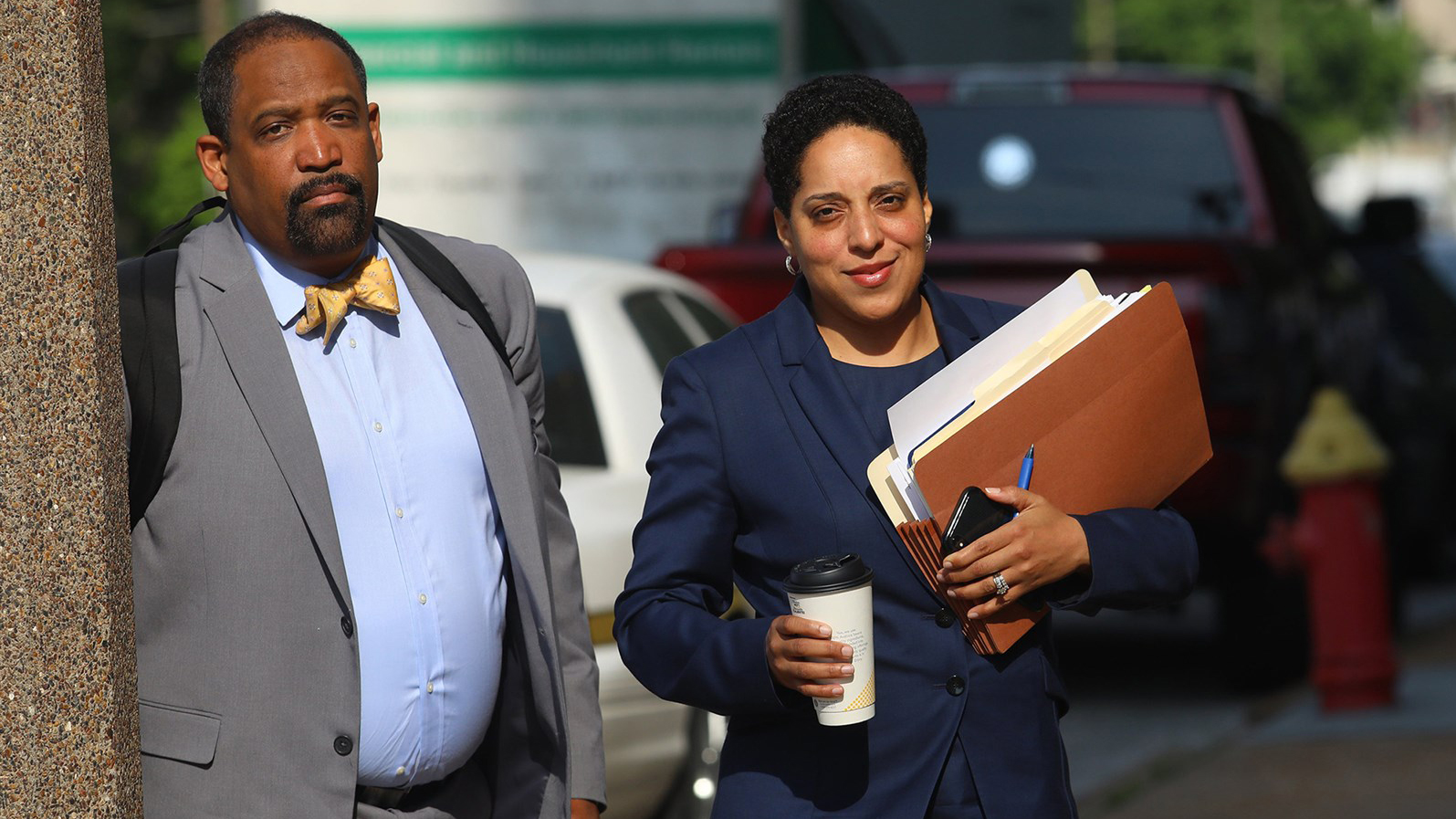 St. Louis Circuit Attorney Kim Gardner and Ronald Sullivan, a Harvard law professor, in 2018.Christian Gooden / St. Louis Post-Dispatch/TNS via Getty Images