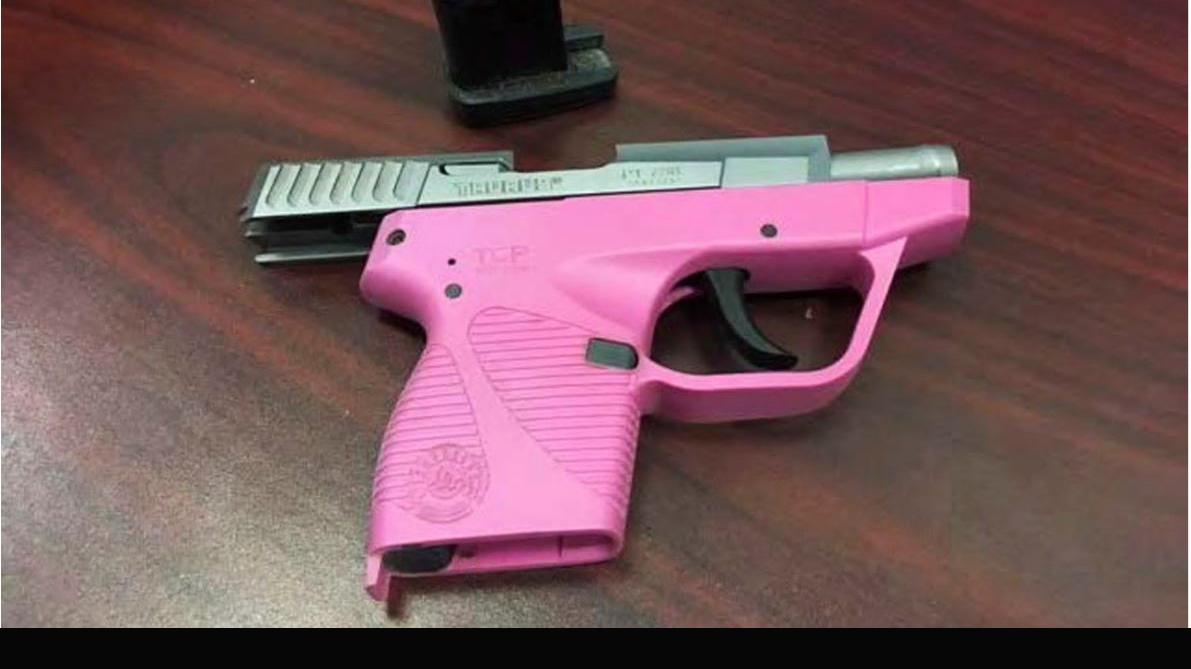 pink handgun confiscated by the TSA