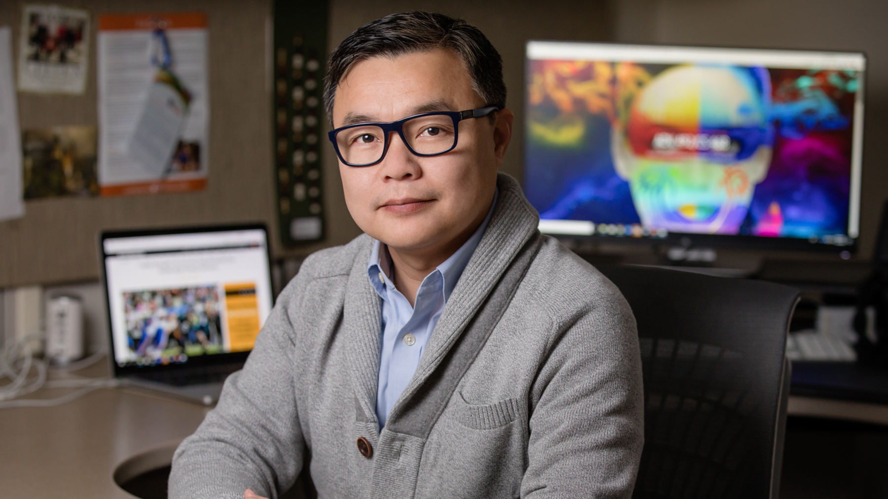Mike Yao, a professor of digital media and the head of the advertising department at Illinois. Photo by L. Brian Stauffer